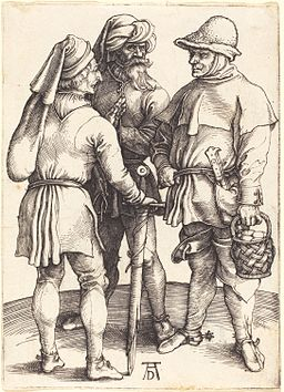 Albrecht Dürer - Three Peasants in Conversation (NGA 1943.3.3473)