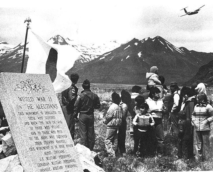 File:Aleutians Campaign Memorial Dedication - 1982.jpg