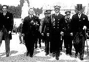 Alexander I of Yugoslavia and Mustafa Kemal in 1933