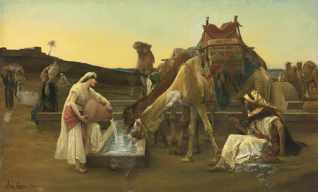 리브가와 엘리에셀 (알렉상드르 카바넬, 1883년)