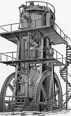 Blowing engine - Allis vertical blowing engine
