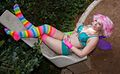 America showing off her rainbow socks (8180145673).jpg