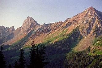 Skagit Range - American Border Peak from Gold Run Pass