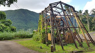 National Park of American Samoa - Remains of a World War II encampment and the historic tramway on the World War II Heritage Trail