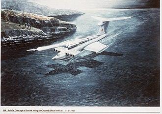 Ground-effect vehicle - Artist's concept of a Lun-class ekranoplan in flight