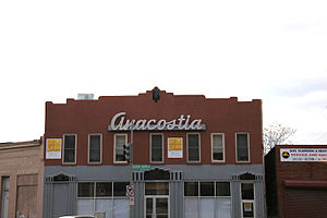 Anacostia - Image: Anacostia historicaneonsign