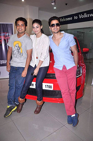Anand Tiwari - From left to right: Anand Tiwari, Puja Gupta and Kunal Khemu during the promotion of Go Goa Gone
