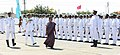 Anandiben Patel inspecting the Guard of Honour, during the commissioning ceremony of INS Sardar Patel, in Gujarat on May 09, 2015. The Chief of Naval Staff, Admiral R.K. Dhowan is also seen.jpg