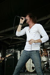 Stephen Christian auf der Warped Tour 2007 in Las Cruces am 12. Juli 2007.