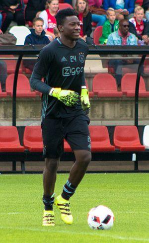 André Onana - Onana in training with Ajax in 2016