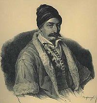 Ανδρέας Ζαΐμης, λιθογραφία του Καρλ Κράιζεσεν.