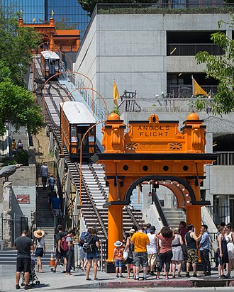 Funicular - Angels Flight, Los Angeles, California in September 2017