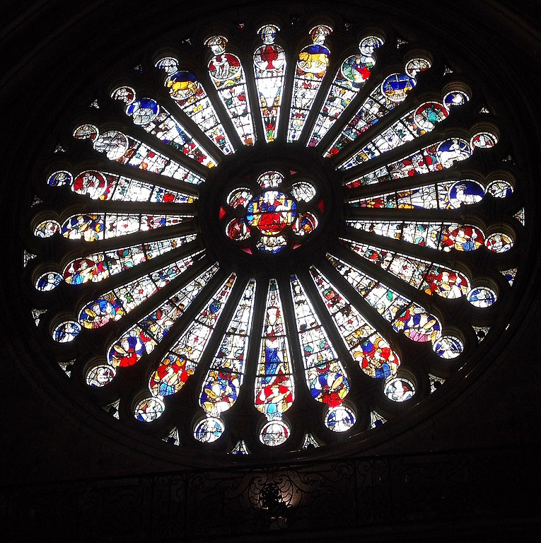 FileAngers Cathedral South Rose Window Of Christ With Zodiac