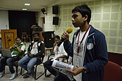 Ankan Ghosh Dastider - Open Discussion - Collaboration among Indic Language Communities - Bengali Wikipedia 10th Anniversary Celebration - Jadavpur University - Kolkata 2015-01-10 3165.JPG