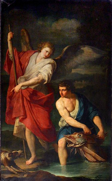 File:Anonimo lombardo (sec. XVII), L'arcangelo e Tobia.jpg