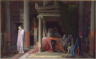 The Illness of Antiochus - Image: Antiochus et stratonice Ingres Musée Condé