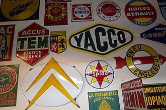 Autoworld (museum) - Image: Antique road signs (8533671594)