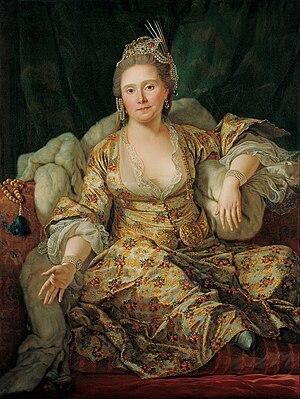 Charles Gravier, comte de Vergennes - Charles Gravier's wife, Annette Duvivier, Comtesse de Vergennes, in Oriental Costume, by Antoine de Favray