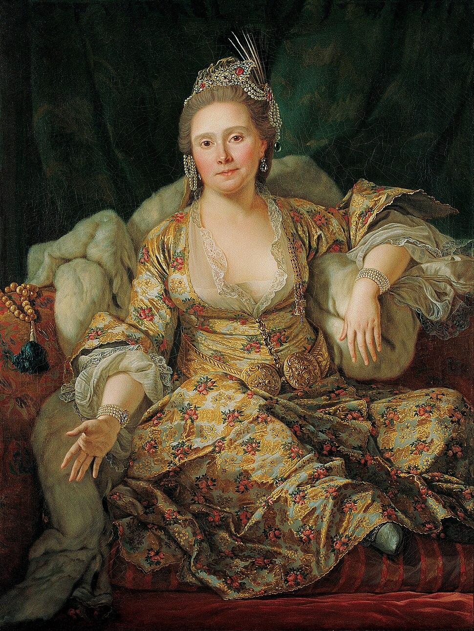 Antoine de Favray - Portrait of the Countess of Vergennes in Turkish Attire - Google Art Project