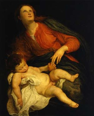 Madonna and Child (van Dyck) - Image: Anton Van Dyck, Madonna col Bambino