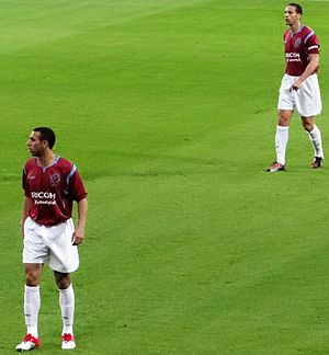 Rio Ferdinand - Rio and Anton Ferdinand playing in Tony Carr's testimonial match in 2010.