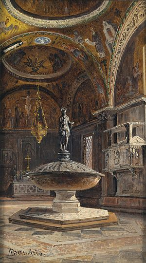 Antonietta Brandeis - Baptismal Font at  Saint Mark's Basilica