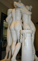Antonio Canova (1757-1822) - The Three Graces, Woburn Abbey version (1814-1817) back left again, Victoria and Albert Museum, August 2013 (11059804953).png