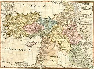 Ottoman Iraq - Image: Anville, Jean Baptiste Bourguignon. Turkey in Asia. 1794 (A)