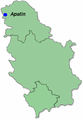 Apatin within Serbia.png