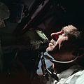 Apollo 7 Lunar Module Pilot Walter Cunningham working inside Command Module.jpg