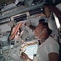 Apollo 7 Mission Lunar Module Pilot Walter Cunningham inside Command Module.jpg