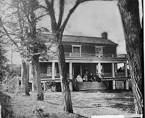 Wilmer McLean - McLean residence in Appomattox Court House, photographed in 1865 by Timothy O'Sullivan