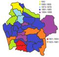 Araucanía Comunas - Fecha de Fundación o de Organización.png