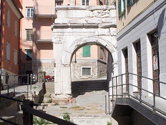 Trieste - Remains of a Roman arch in Trieste's Old City