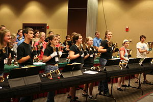 Handbell - Handbell Choir Practicing