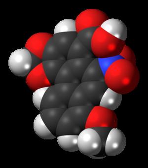 Aristolochic acid - Image: Aristolochic acid 3D spacefill