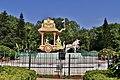 Arjuna's chariot in Geethopadesam park, Tirumala (May 2019) 1.jpg