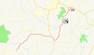 Arkansas Highway 58 - Image: Arkansas 58