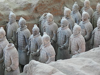 Government of the Han dynasty - The Terracotta Army, assembled by 210 BC for the burial of Qin Shi Huang (r. 221–210 BC), the first emperor of the Qin dynasty