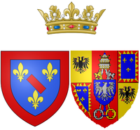 Arms of Maria Fortunata d'Este as Princess of Conti.png