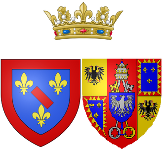 Maria Fortunata d'Este - Maria Fortunata's arms as Princess of Conti