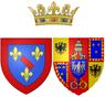 Arms of Maria Fortunata d'Este as Princess of Conti.png