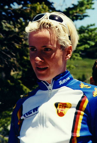 German National Road Race Championships -  Judith Arndt - nine times winner of the mountain race