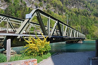 Lake Thun railway line railway line in Switzerland, linking Thun with Interlaken via Spiez