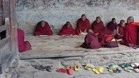 File:Around Jakar, Tamshing Lhakhang, young monks studying.webm