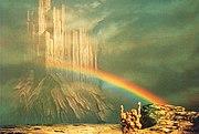 Asgard and Bifrost in interpretation of Otto Schenk in Wagner's Das Rheingold.jpg