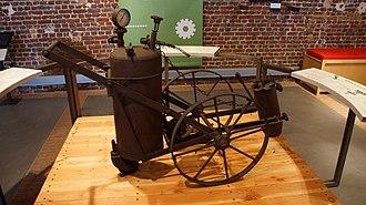 La Fonderie, Brussels Museum of Industry and Labour - Image: Asphalt machine in La Fonderie, Brussels Museum of Industry and Labour