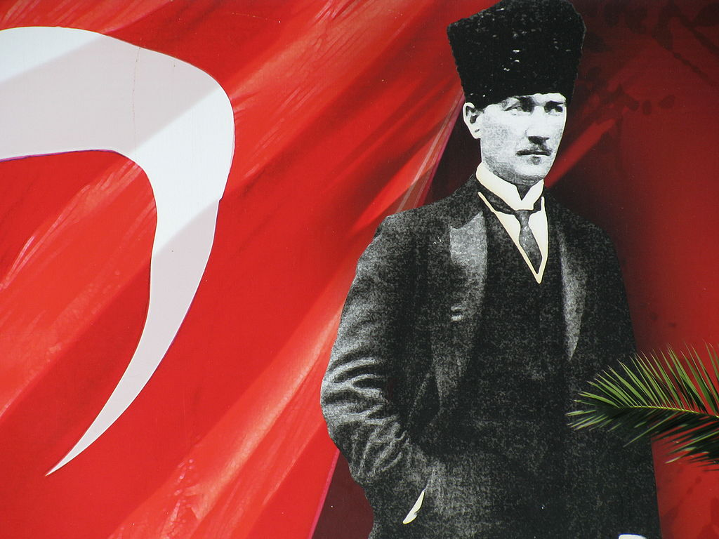 Atatürk with Turkish flag