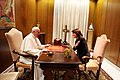 Atifete Jahjaga - His Holiness Pope Francis.jpg