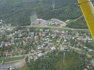 Atikokan - Partial view of Atikokan as seen from above.